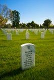 Scelga la pietra tombale nel cimitero nazionale Fotografia Stock Libera da Diritti