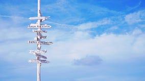 Scelga la vostra destinazione (orizzontale) Fotografia Stock