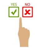 Scelga sì o no Immagini Stock Libere da Diritti