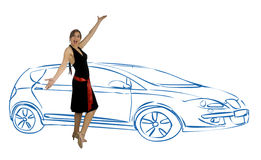 Scelga una nuova automobile Immagini Stock