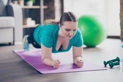 Scelgo lo stile di vita attivo sano! Chiuda sul ritratto di confiden Fotografia Stock