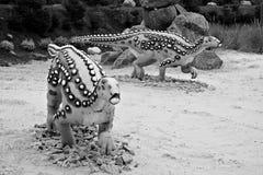 Scelidosaurus (lagarto del miembro). Modelo del dinosaurio. foto de archivo libre de regalías