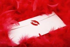 Scellé avec un baiser Photos stock