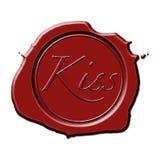 Scellé avec un baiser Images libres de droits