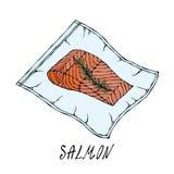 Scelleur de nourriture de Vacuumizer Ce qui est Sous-Vide Technologie à cuisson lente Salmon Steak emballé sous vide Cuisine en c photos libres de droits