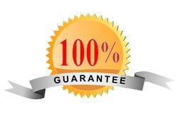 Scellez la garantie de 100% Photographie stock libre de droits