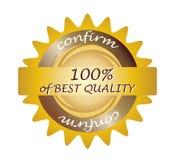 Scellez la qualité 100% Images libres de droits
