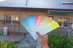 Scelta del colore nuovo della facciata Fotografia Stock Libera da Diritti