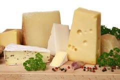 Scelta del formaggio Fotografie Stock