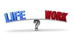 Scelta dell'equilibrio del lavoro o di vita Fotografia Stock