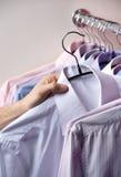Scelta della camicia Fotografia Stock Libera da Diritti