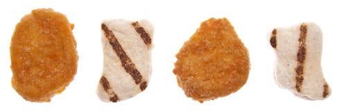 Scelta della pepita di pollo fotografia stock