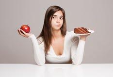 Scelta di nutrizione. Immagine Stock