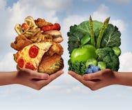 Scelta di nutrizione Fotografia Stock
