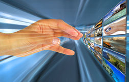 Scelta virtuale Fotografia Stock