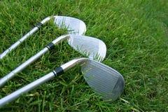 Scelte del club di golf Immagini Stock