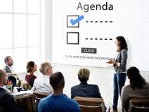 Scelte della lista di controllo per fare concetto di valutazione di verifica Immagini Stock