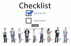Scelte della lista di controllo per fare concetto di valutazione di verifica Fotografia Stock Libera da Diritti