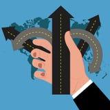 Scelte di affari per le situazioni difficili, illustrazione di vettore Immagine Stock Libera da Diritti