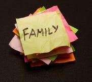Scelte di vita - famiglia fotografia stock