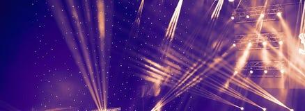 Scen światła, lekki przedstawienie przy koncertem Koncertowy Lekki przedstawienie Zdjęcie Royalty Free
