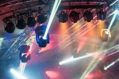 Scen światło reflektorów Obrazy Royalty Free