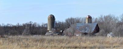 Scena abbandonata dell'azienda agricola di midwest Immagini Stock