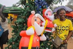Scena africana di Natale di Streetside Immagine Stock Libera da Diritti