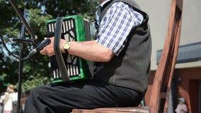 Scena akordeon plenerowy zbiory wideo