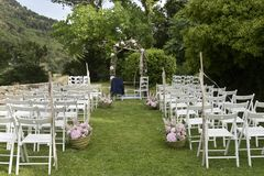 Scena all'aperto di nozze Fotografia Stock