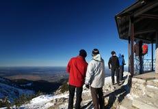 Scena alpina della montagna Immagine Stock