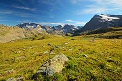 Scena alpina di elevata altitudine Fotografia Stock