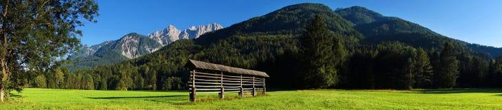 Scena alpina vicino a Kranjska Gora, Slovenia, Europa Immagine Stock Libera da Diritti