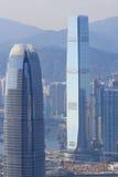 Scena ammucchiata dell'orizzonte di Hong Kong Fotografie Stock Libere da Diritti