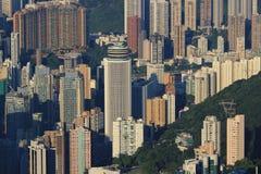 Scena ammucchiata dell'orizzonte di Hong Kong Immagine Stock Libera da Diritti