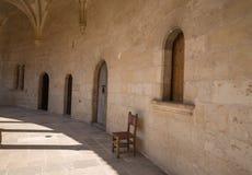 Scena antica del monastero alta sopra Palma in Maiorca Fotografia Stock