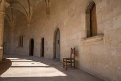 Scena antica del monastero alta sopra Palma in Maiorca Immagine Stock Libera da Diritti