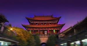 Scena antica di notte della città Fotografia Stock Libera da Diritti