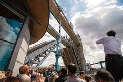 Scena aperta del ponte della torre a Londra. Immagini Stock