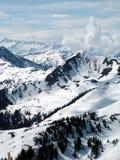 Scena austriaca di inverno delle alpi Immagini Stock
