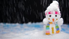 Scena bałwan & snowing zbiory