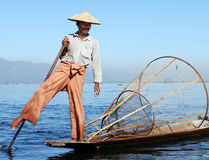 Scena birmana tipica del fiume immagine stock libera da diritti