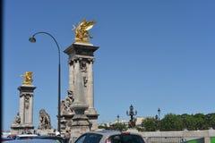 Scena buiding e della via di Parigi Fotografia Stock