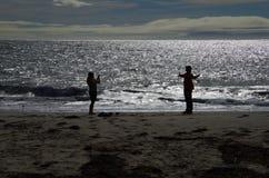 Scena California U.S.A. della spiaggia Immagine Stock Libera da Diritti