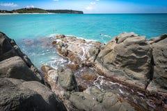 Scena caraibica della spiaggia Fotografia Stock Libera da Diritti