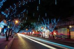 Scena cinese di notte fotografia stock