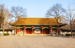 Scena commemorativa del tempio di Jinci (museo). Il tubo principale del tempio commemorativo di Jinci (museo). Immagine Stock