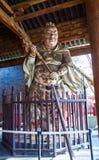 Scena commemorativa del tempio di Jinci (museo). Porta-Dio ha colorato la scultura di argilla al corridoio da santo della madre Immagini Stock