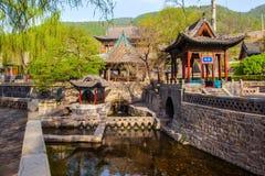 Scena commemorativa del tempio di Jinci (museo). Primavera di Nanlao. Immagine Stock