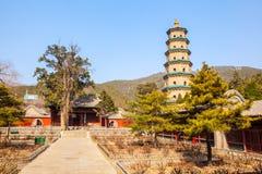 Scena commemorativa del tempio di Jinci (museo). Tempio di Fengsheng. Fotografie Stock Libere da Diritti
